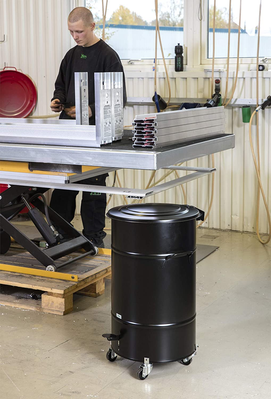 Cowa Clean Tools Abfalleimer mit Deckel Favori 70 Liter Mülltonne Abfallbehälter