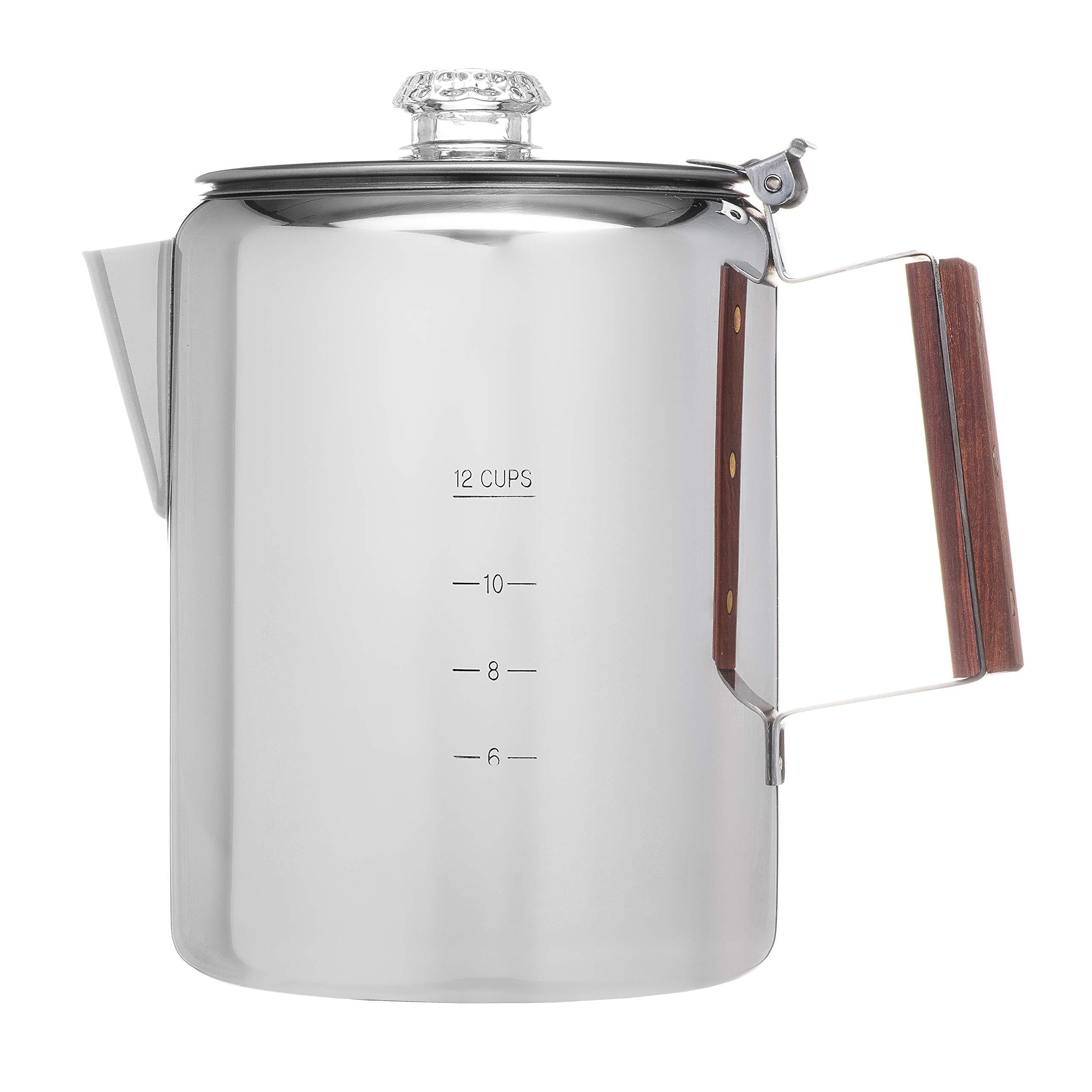 Coletti''Bozeman'' Percolator Coffee Pot - 12 CUP Camping Coffee Pot   Coffee Percolator