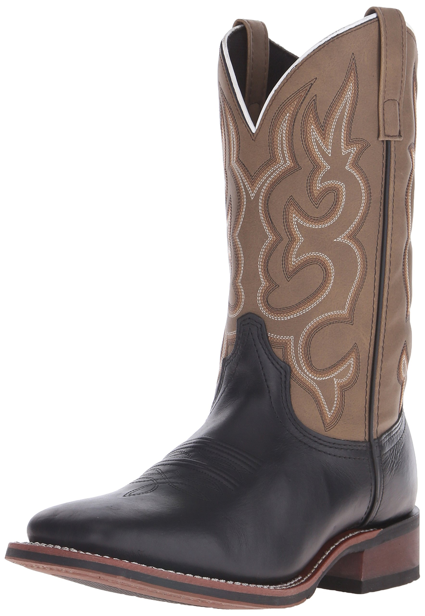 Laredo Men's Lodi Western Boot,Black/Sand,10.5 D US
