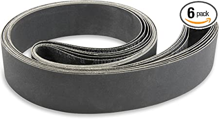 2 Pack 6 X 90 Inch 800 Grit Silicon Carbide Sanding Belts