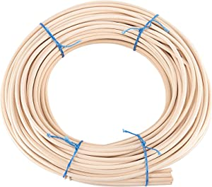 ZOENHOU 22 Yard 1/5 Inch Reed Spline, Durable Wicker Repair Kit, Natural Pliable Cane Webbing Material for Aromatherapy Stick Basket Weaving Winding Layering Modeling