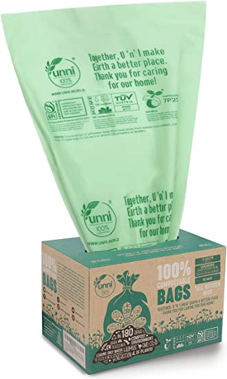 Amazon.com: UNNI ASTM D6400 bolsas de basura 100 ...