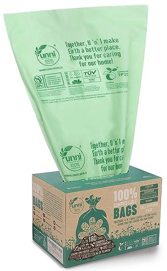 Amazon.com: Bolsas biodegradables Unni, con certificado ...