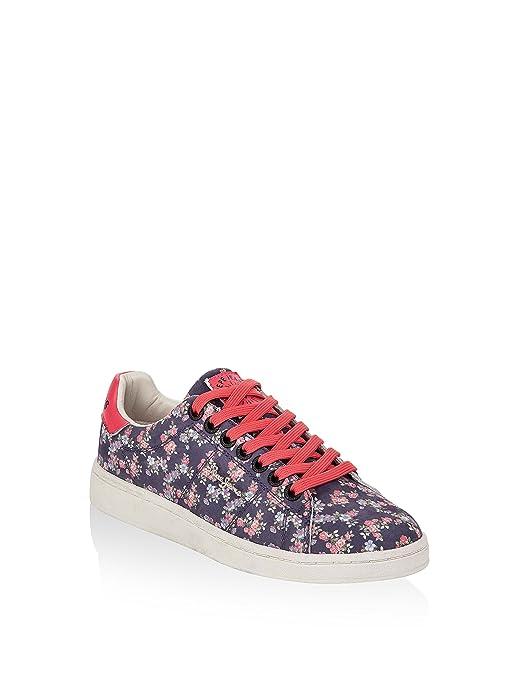 Pepe Jeans Damen Club Flowers Sneaker Schwarz