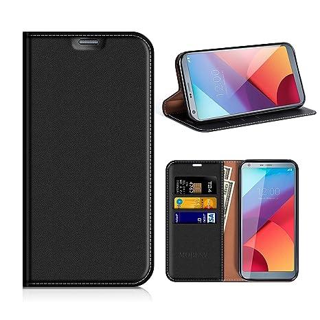 autentico 95ef5 cde98 MOBESV Custodia in Pelle LG G6, Custodia LG G6 Cover Libro/Portafoglio  Porta per Cellulare LG G6 - Nero