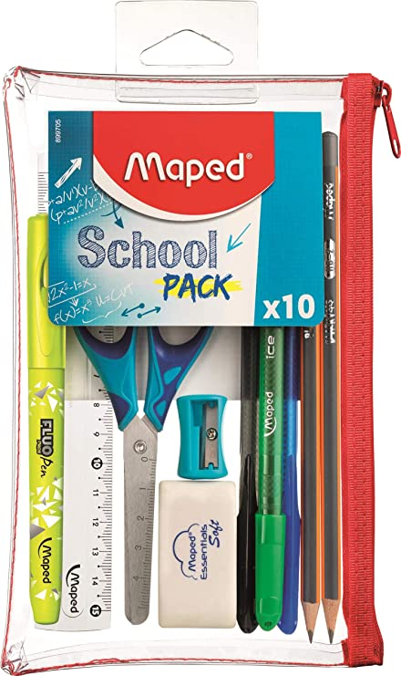 Estuche de accesorios para la escuela 10x, escuela: Amazon.es: Oficina y papelería