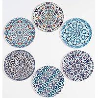 BABEL ARTESANIA Onderzetters (6 stuks) - originele decoratieve geschenken voor koffie, keuken, een drank, kopje, wijn…