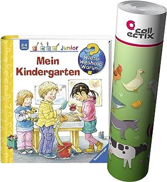 Ravensburger Junior Libro 2-4 Años Mi Jardín De Infancia + Niños Animales De Granja Póster: Amazon.es: Juguetes y juegos