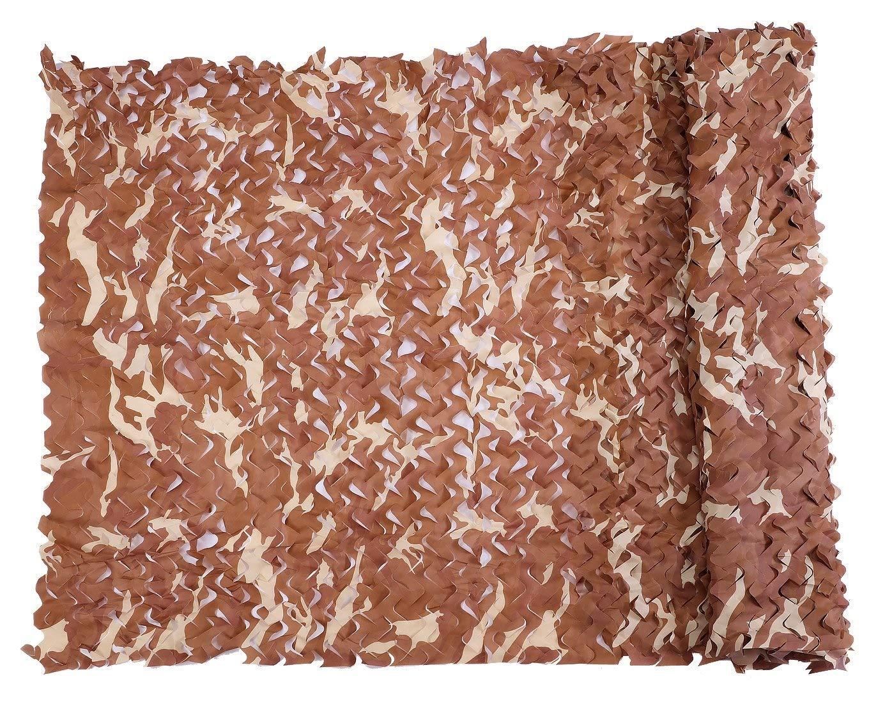 迷彩ネッティングミリタリーネット軽量耐久性のある日よけ装飾狩猟ブラインド撮影迷彩ネット (色 : Desert, サイズ さいず : 6x6m) 6x6m Desert B07Q7RT418