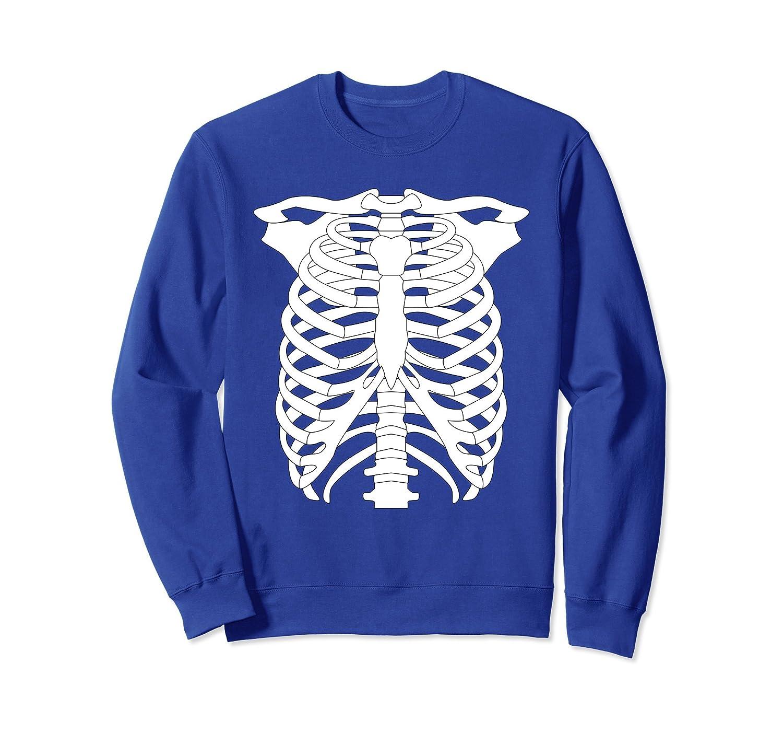 Cool Graphic Human Skeleton Halloween Costume Sweatshirt-mt
