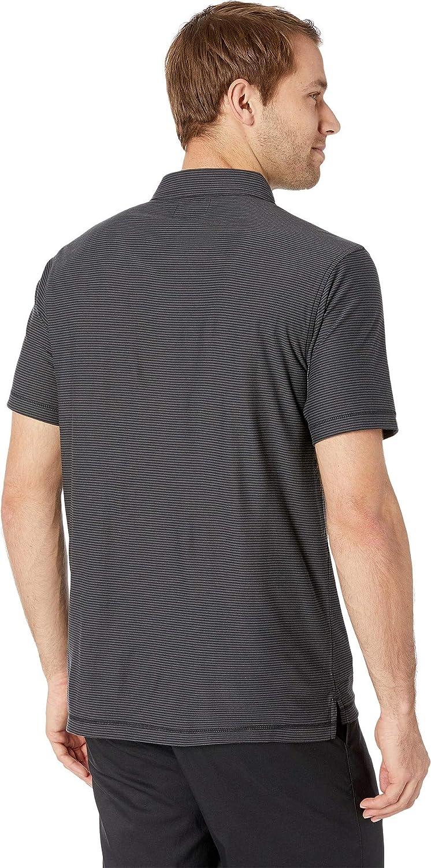 Linksoul Mens LS1119 Dry-TEK Poly//Cotton Striped Polo w//Pocket