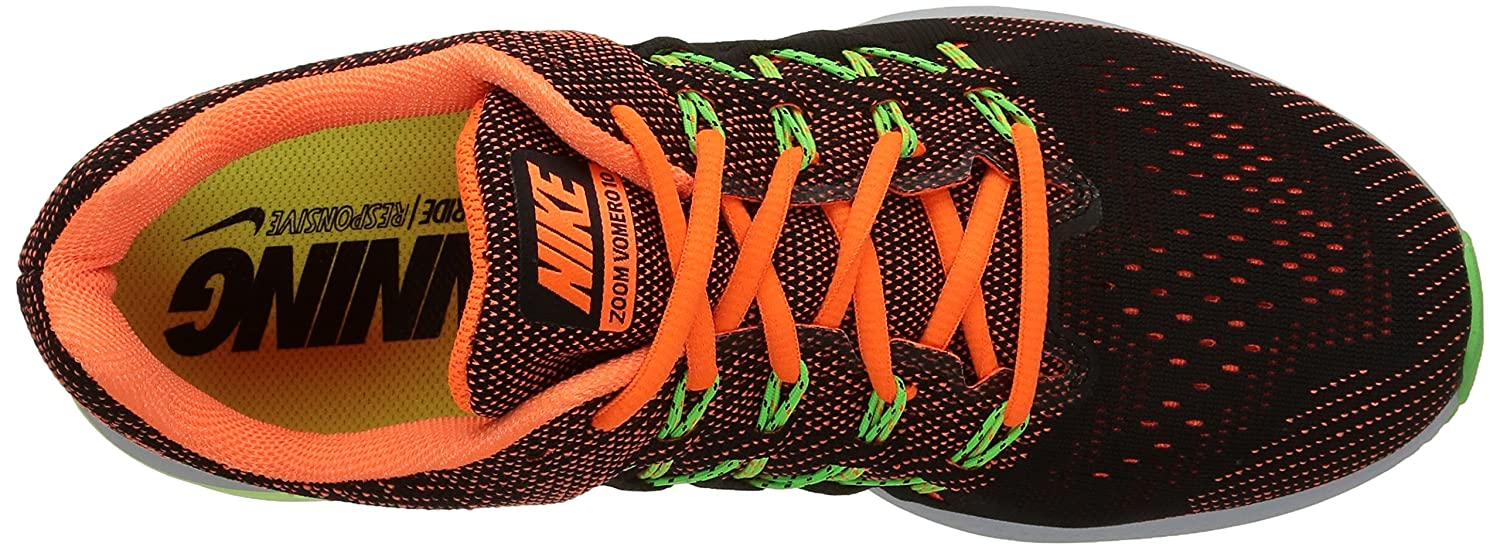 save off f2bef 8b47e Nike Men s Air Zoom Vomero 10, Total Orange Black-Ghost Green-Voltage Green.   Buy Online at Low Prices in India - Amazon.in
