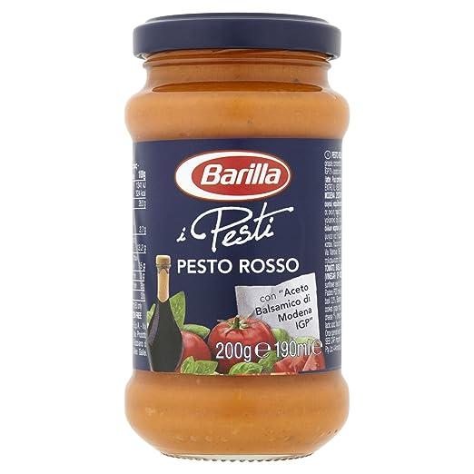6x Barilla Red Pesto Con Tomate, Albahaca y Vinagre Balsámico de Modena IGP Para Pasta 200g: Barilla: Amazon.es: Alimentación y bebidas