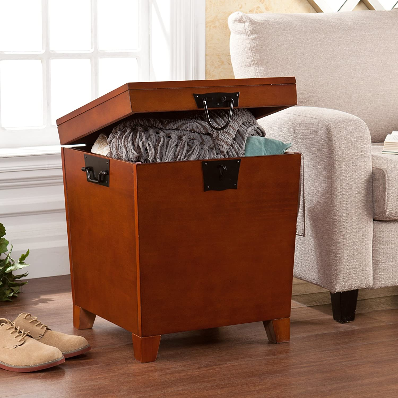 Attractive Amazon.com: Southern Enterprises Pyramid Storage Trunk End Table, Mission  Oak Finish: Kitchen U0026 Dining