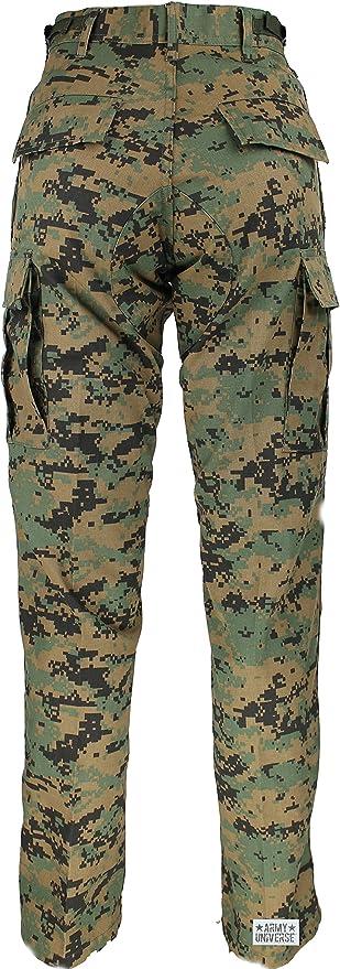 Amazon.com  Mens Woodland Digital Camo Poly Cotton Military BDU Army  Fatigues Cargo Pants with Pin  Clothing c87cdbc10cb