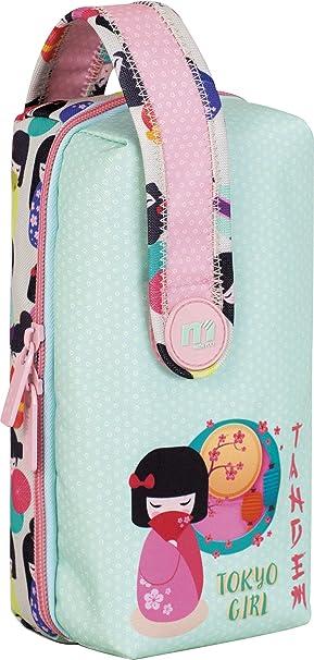 Multiestuche Escolar Tandem Tokio Girl | Estuche Escolar Grande Multiportatodo de Doble Cremallera, Organizador Mochila Gran Capacidad con 4 Estuches Escolares Interiores - Medidas 11 x 21,5 x 10 cm: Amazon.es: Oficina y papelería