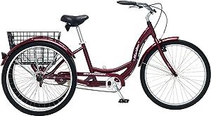 Schwinn Meridian Adult Trike, Three Wheel Cruiser Bike
