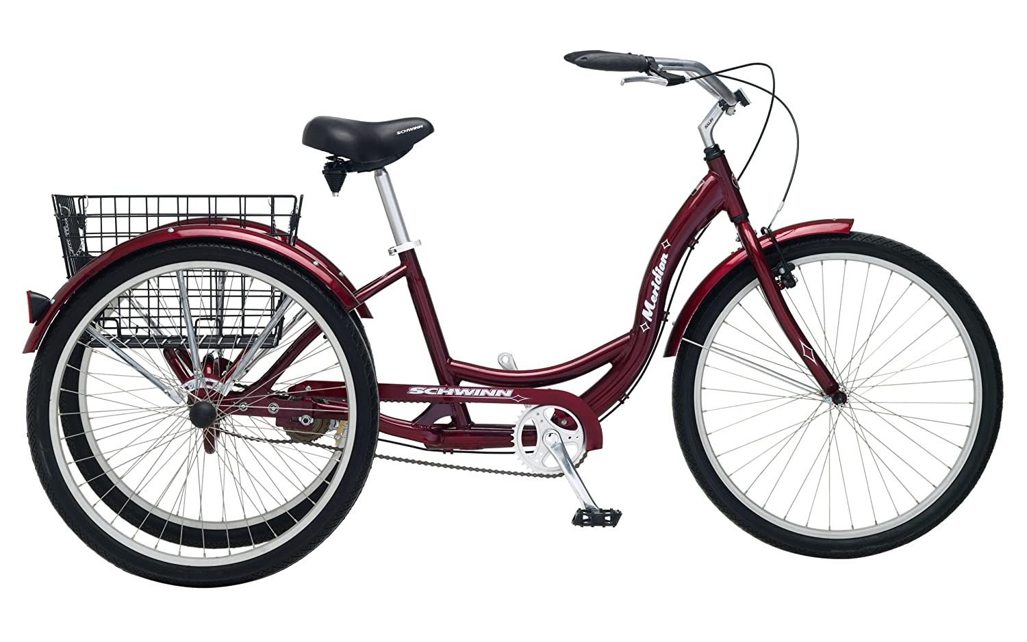 Schwinn Meridian Full-Size Adult Tricycle 26 wheel size Bike Trike