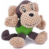 PEHOST 犬 おもちゃ 歯ぎ清潔 ストレス解消 丈夫 音の出るおもちゃ 発声装置搭載 モンキーさん