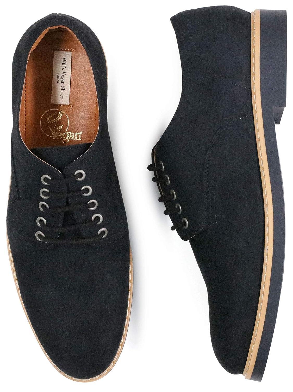 Will's Vegan Shoes Derby, Scarpe da Uomo, in camoscio