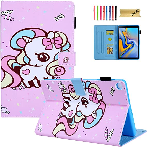 Amazon Com Galaxy Tab A 10 1 2019 Case Sm T510 Dteck Tablet Cover For Samsung Tab A 10 1 2019 Slim Fit Cute Cartoon Folio Stand Smart Shell Protective Case For Samsung Tab A 10 1