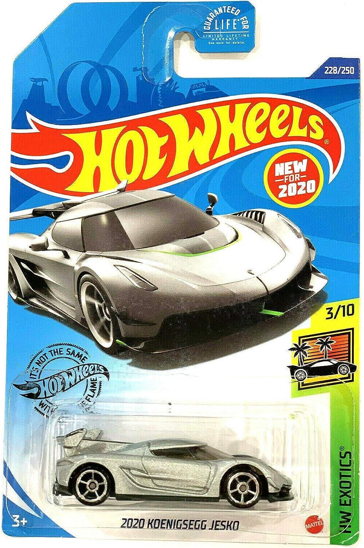 Silver 2020 Koe-nigsegg Jesko DieCast Hotwheels HW Exotics 228//250