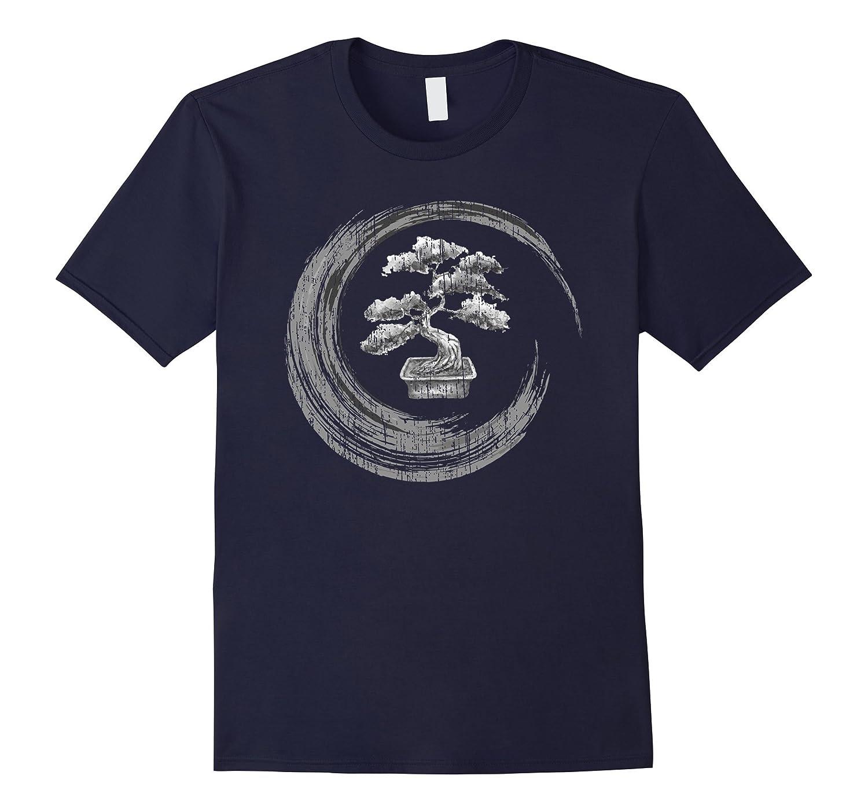 Bonsai Tree Enso Circle T-Shirt Vintage Zen Calligraphy Art-ah my shirt one gift