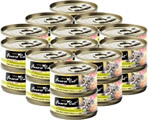 Fussie Cat Premium Tuna with Shrimp in Aspic Grain-Free Wet Cat Food 2.82oz, case of 24