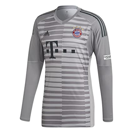 5c68cb15f Amazon.com   adidas 2018-2019 Bayern Munich Home Goalkeeper Shirt   Sports    Outdoors