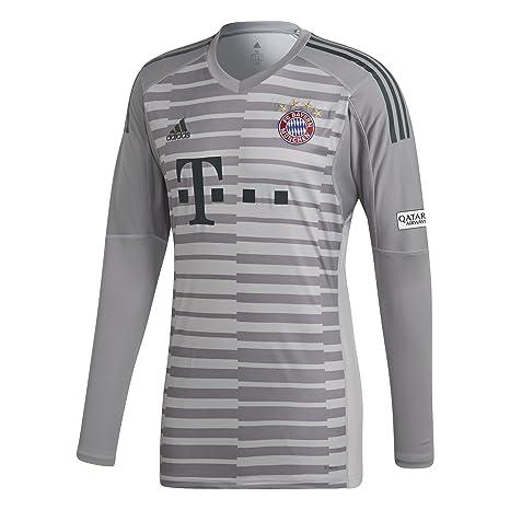 cdf41596d adidas Kinder 18 19 FC Bayern Torwart Trikot Grey one Light Granite Utility