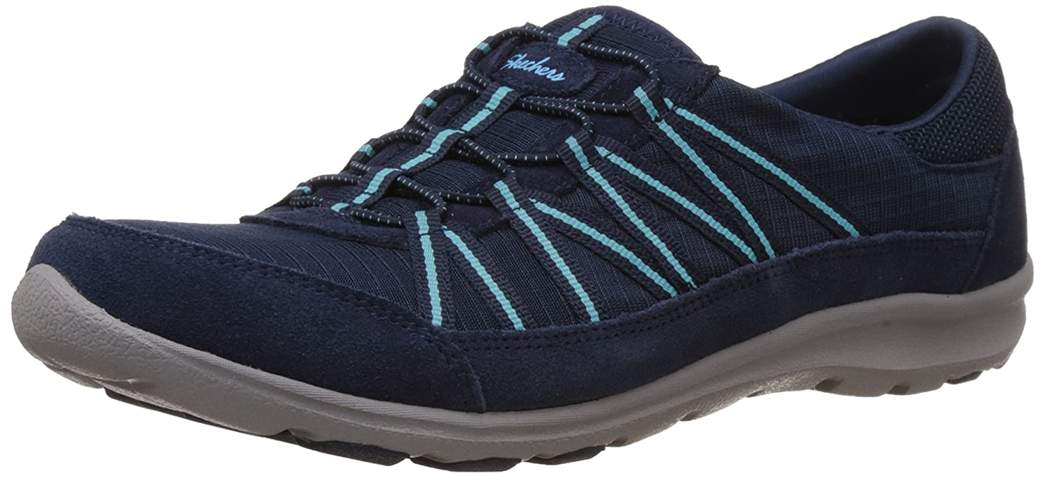 Skechers Sport Women's Dreamchaser Romantic Trail Skylark Fashion Sneaker B00VQMNC6A 6 B(M) US|Navy/Turquoise