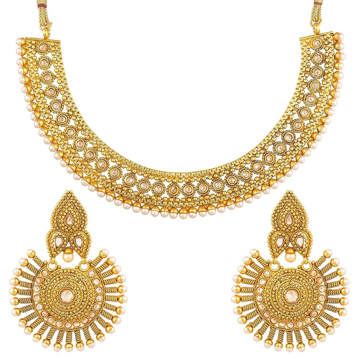 The Luxor Ethnic Traditional Copper Plated Jewellery Set