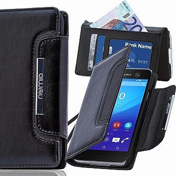 numia Sony Xperia Z1 Compact Hülle, Handyhülle Handy Schutzhülle [Book Style Handytasche mit Standfunktion und Kartenfach] Pu Leder Tasche für Sony