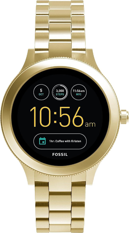 Smartwatch Fossil Q Venture Unisex Gen 3, Caja y brazalete en color dorado de acero inoxidabe, Compatible con Android e iOS