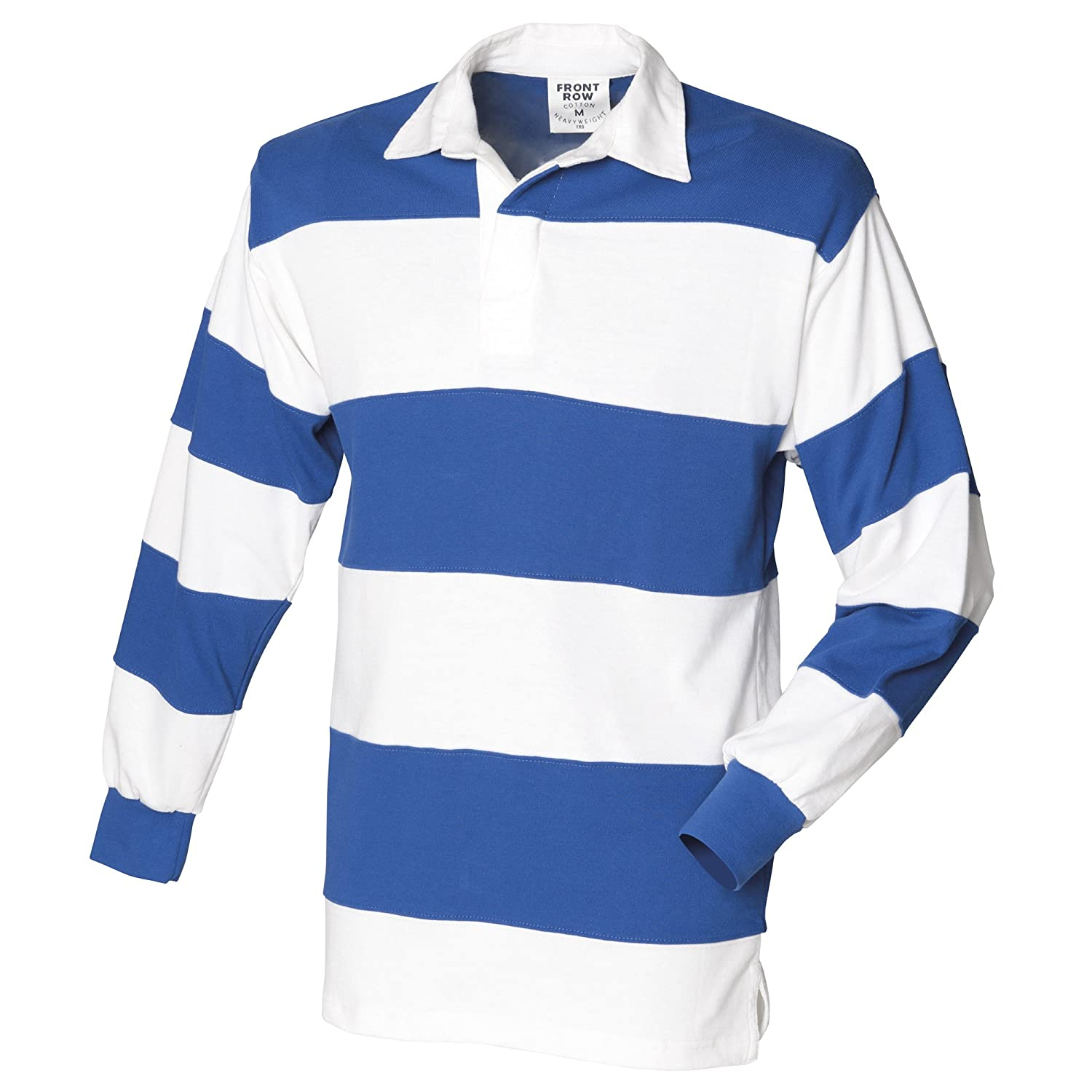Front Row Sewn Stripe Long Sleeve Sports Rugby Polo Shirt: Amazon.co.uk:  Clothing