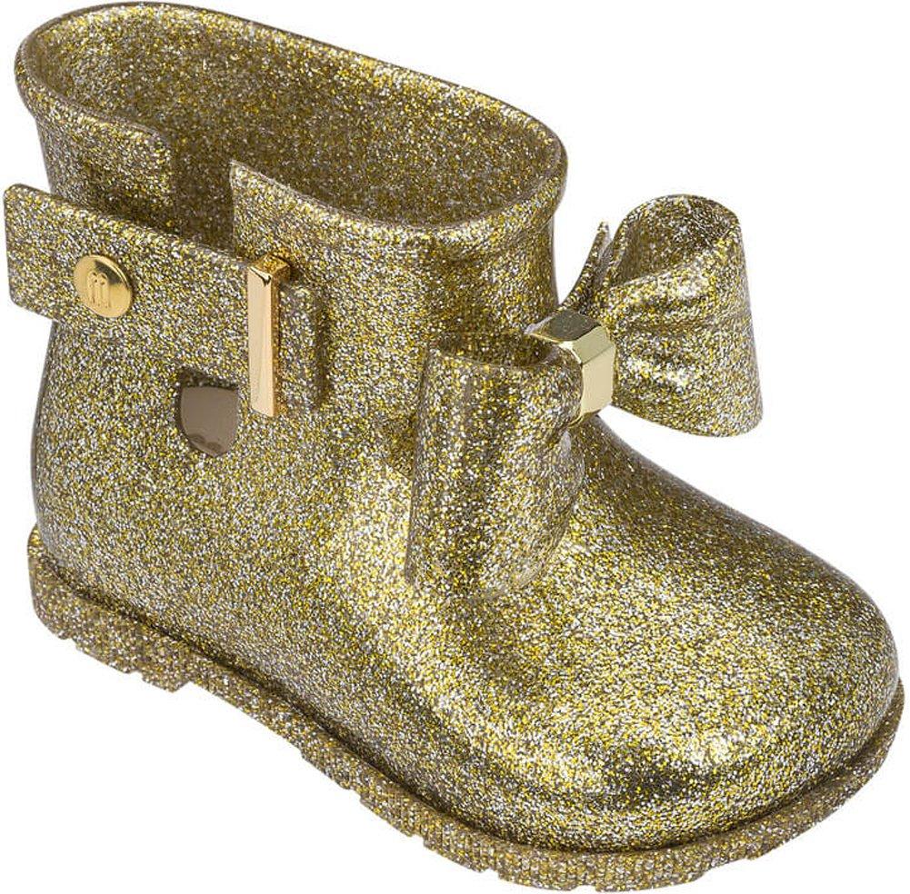 Mini Melissa Sugar Rain Bow Mary Jane (Toddler), Gold Glitter, 11 Regular US Little Kid