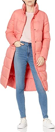 Amazon Essentials Women's Midweight Water Resistant Long Sleeve Longer Length Relaxed Fit Cocoon Puffer Coat