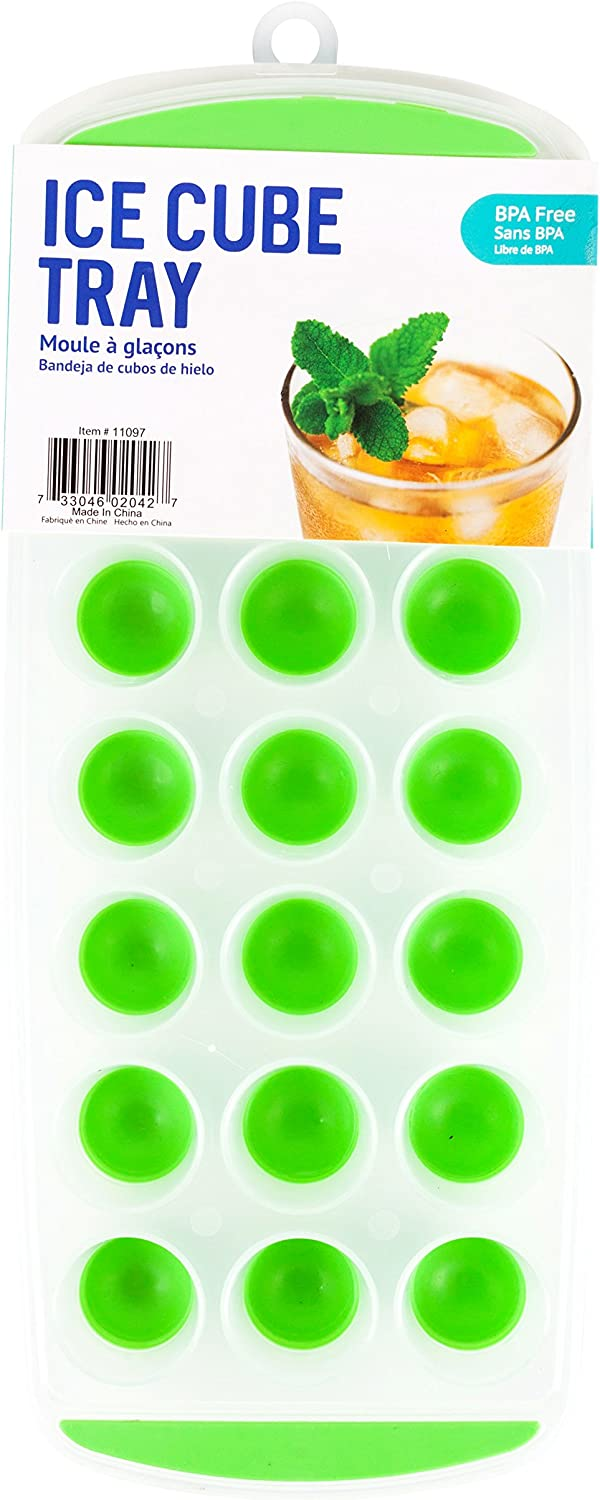 Good Living Silicone Mini Ice Cube Tray for Smaller Freezers, 3-pack