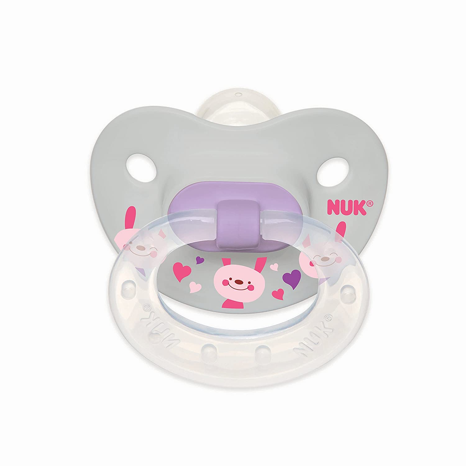 NUK Orthodontic Pacifiers (0-6m) 3 count, Value Pack, Silicone, Girl Designs