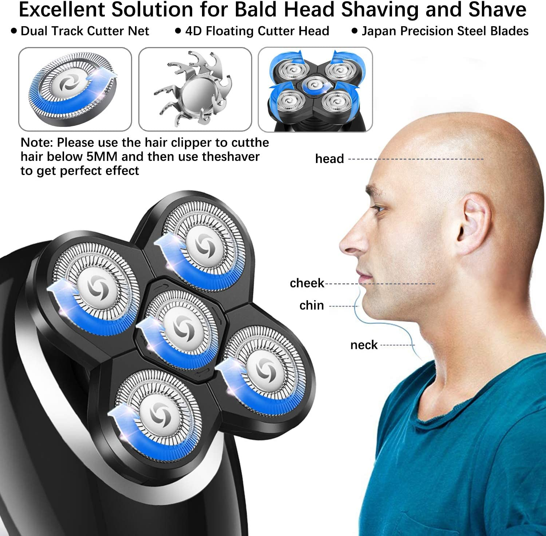 GOOLEEN - Afeitadora eléctrica inalámbrica para hombre, 5 en 1 ...