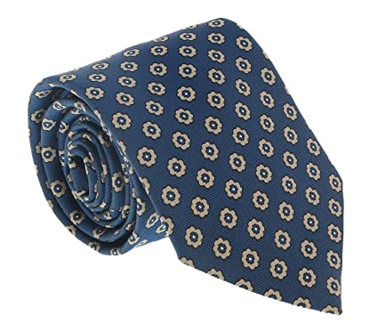 634fcfb8 Ermenegildo Zegna Teal Blue Floral Medallion Tie for mens at Amazon ...