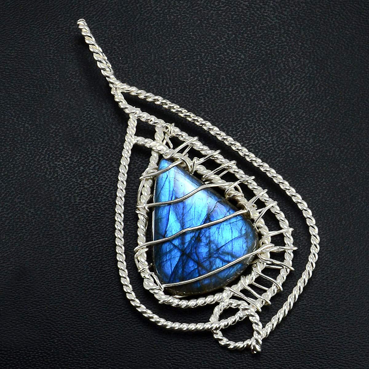 Labradorite Gemstone 925 Sterling Silver Pendant PG-156205