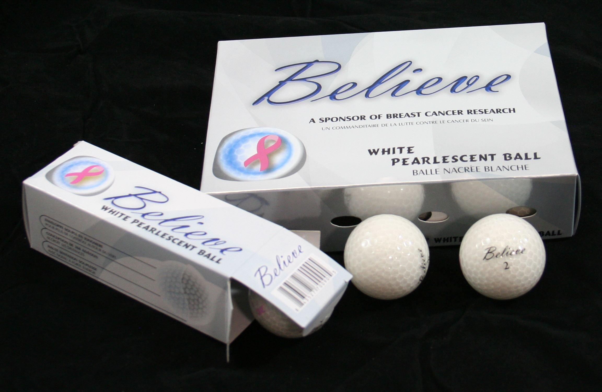 Founders Club Believe Ladies Pearlescent Golf Balls - Three Dozen (White)