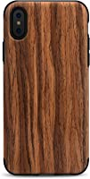 Tasikar Compatible iPhone Xs Case/iPhone X Case Easy Grip Slim Case Wood Grain Design Natural Feel Compatible iPhone Xs...