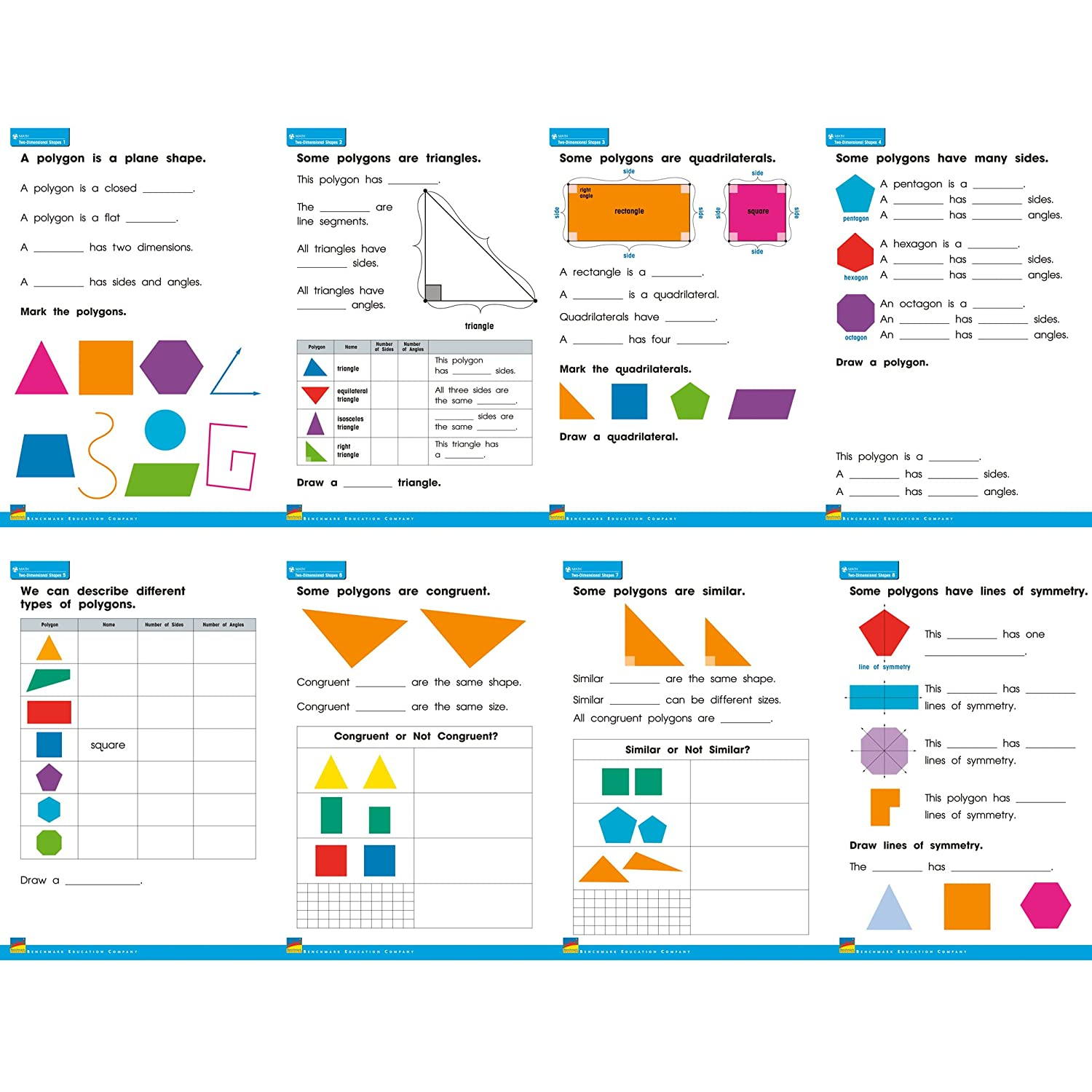 Newmark Learning Two-Dimensional Shapes Posters