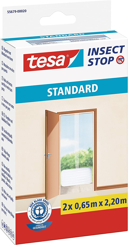 TESA TE55679-00020-03 Malla Standard para puertas 2 telas de 0,65cm x 2,2m blanca