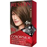 REVLON - Colorsilk Beautiful Permanent Hair Color #41/4N Medium Brown Hair Color