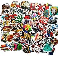 ANKENGS Autocollant [100-pcs] Graffiti Autocollant, Autocollant Vinyle, Autocollant aléatoire, Parfait pour Ordinateur Portable, Les Planches à roulettes, Les Bagages, Les Voitures