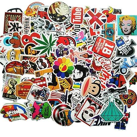 ANKENGS Aufkleber Pack [100-pcs] Graffiti Sticker, Vinyl Stickers, Zufälliger Aufkleber, Vervollkommnen Sie zu Den Laptops, S