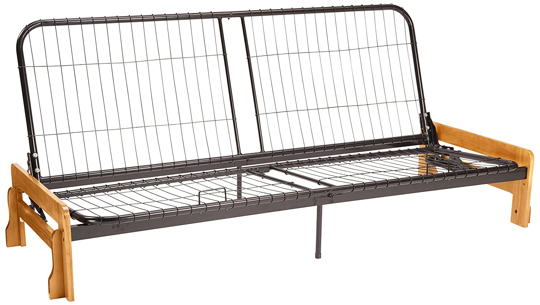 amazon    bali futon sofa sleeper bed frame queen size black arm finish  kitchen  u0026 dining amazon    bali futon sofa sleeper bed frame queen size black      rh   amazon
